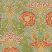 Moda - Voysey by The V&A - 6667 - Floral Reproduction on Duckegg  - 7320 14 - Cotton Fabric